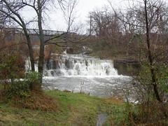 spilling over (loraweber) Tags: waterfall rain scenery fallcolor fall sapulpaok oklahoma oklahomalake nikon