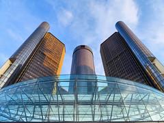 Renaissance Center, Detroit, Michigan (duaneschermerhorn) Tags: architecture architect design building structure skyscraper highrise modern contemporary modernarchitecture contemporaryarchitecture