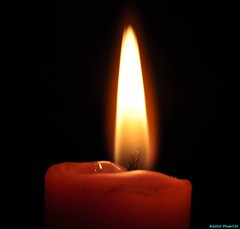 A candle. (PhotoTJH) Tags: light red fire licht candle flame heat rood vuur kaars hitte vlam warmte phototjh
