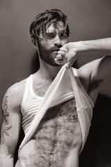 992 (rrttrrtt555) Tags: hairy armpit muscles shirt tattoo hair beard arms chest attitude flex wifebeater