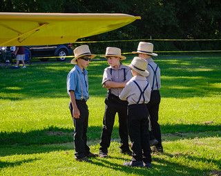 Amish Boys at the Hagerstown Flying Circus 2015