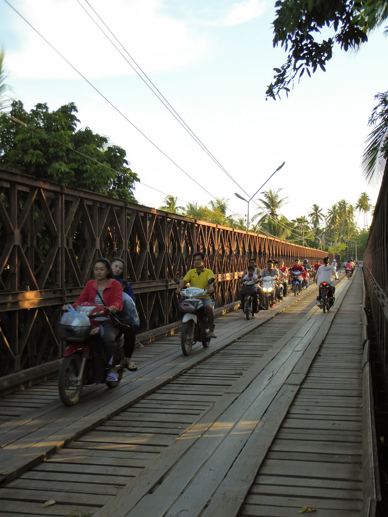 the old bridge in Luang Prabang