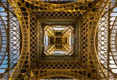 Eiffel Tower from below (_gate_) Tags: from city trip urban holiday paris france tower art beautiful june architecture nikon frankreich view angle steel urlaub wide sigma style eiffel stadt architektur below ausflug underneath 1020mm eiffelturm stahl weitwinkel 2015 citytrip 4056 d5300