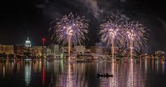 Shake-The-Lake_MFD9587-FLNS (M F Davis) Tags: fireworks madison olinpark wisconsin lakemonona reflection night madisonwisconsin skyline julyfourth independenceday
