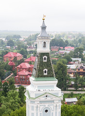 In the Trinity Lavra of St. Sergius in Sergiev Posad (Russia). View from the belfry. (straannick) Tags: church abbey st bronze canon religious temple ancient worship cathedral suspension bell russia famous religion great landmark belltower full beam holy trinity dome frame sacred historical christianity spirituality fullframe ornate heavy orthodox greatness chime welfare antiquity grandeur lavra bellfry sergius canon6d trinitylavraofstsergius