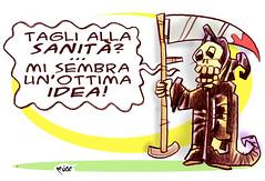 Tagli alla Sanit (Moise-Creativo Galattico) Tags: vignette satira attualit moise giornalismo tagli sanit editoriali moiseditoriali editorialiafumetti