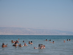 In The deadsea with The daily news!