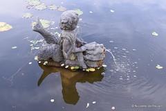 Beeld in de vijver bij Villa Augustus in Dordrecht (Nicolette Vermeulen) Tags: vijver water beeld statue fontein villa augustus dordrecht tuin garden detail nicolette vermeulen fountain