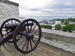 Mackinac Island, Michigan (Jasperdo) Tags: history island view fort michigan cannon viewpoint mackinacisland fortmackinac