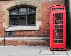 Nonsense... (James Thomas 10375) Tags: windows red brown white black window glass shop wall museum 35mm grey lights pavement path bricks fairy mortar oxford nonsense phonebox strett canoneos5dmarkiii sigma35mm14art