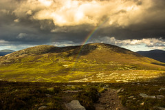 After the storm, Lochnagar (Katherine Fotheringham) Tags: sun storm rain clouds scotland rainbow path walk heather hills climbing balmoral lochnagar cairngorms monro