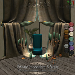 *pm* Ornate candelabras 5 stem advert (the_innocence) Tags: candles fantasy historical ornate pm delicate rp homedecor papermoon roleplay candelabras candleabras we3rp