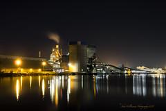 Cement Works (johnwilliamson4) Tags: longexposure night river industrial australia southaustralia portadelaide