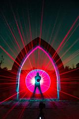 Light Mixture Selfie (MAGIC PASSION * PHOTOGRAPHY *) Tags: archway ark laser lightpainting lightart creative night light art photography acrylic blade diy led tool longexpo sony