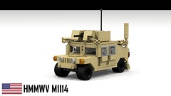 HMMWV M1114 (Up-Armored Humvee) (Anthony_Kong) Tags: usarmy hmmwv humvee m1114 lego ldd legodigitaldesigner military vehicle usa
