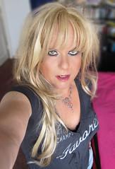Back home (Irene Nyman) Tags: irene nyman cute dutch tgirl holland selfie closeup blue eyes crossdresser transvestite portrait makeup