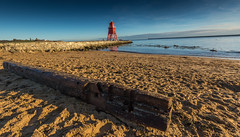 9Y0A3049 (kevaruka) Tags: south shields geordie north the eat newcastle sea sun sunshine sunny day early morning winter kevin frost 2017 january colour colours composition flickr front page thephotographyblog uwa ultra wide angle canon eos 5d mk3 70200 f28 is mk2 ef 1635 5d3 5diii red green beach seaside blue sky rocks lighthouse color colors england great britain outdoor kevinfrost