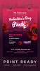 Bright Valentine's Day Flyer (LuckyBear56) Tags: drink event flyer heart heartflyer invitation love loveday loveflyer loveposter party postcard poster roses ticket valentines valentinesday valentinesflyer valentinesposter