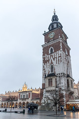 """Town Hall Tower (Ania Mendrek) Tags: krakow poland cracow christmas winter foggy holidays visiting xmas city history architecture old town """"old town"""" """"main square"""" medieval square townhouses """"cloth hall"""" sukiennice """"town hall tower"""" tower monuments mariacki church """"mariacki church"""" """"st marys basilica"""" basilica"""