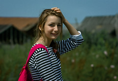 lady of sea (altazet) Tags: women lady sea young altazet anatolyleonov sakhalin summer frock portrait isconar