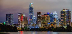 Downtown Austin 2016/12/11 (-Dons) Tags: austin texas unitedstates tx usa downtown night evening skyline townlake water lights cloudy building austonian frosttower