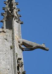 P7040123 (marinetteromico) Tags: sculpture pierre gargouille animal fantastique basilique notredameduparadis hennebont bretagne