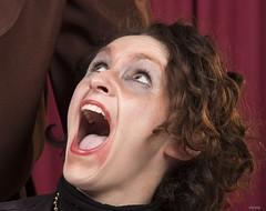 OH !Quelle surprise........ (Elyane11) Tags: portrait costumes balmasqué regard rire femme