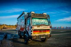 Football Hotel (Ian Livesey) Tags: 2015 20161227 newbrighton merseyside places wallasey football vehichle mobilehotel truck german
