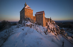 Sunrise at Burg Hohenstein January 2017 - Single shot (Bernhard_Thum) Tags: bernhardthum thum franken hohenstein burghohenstein leicam distagont2815 distagon1528zm zm sunrise earlymorning