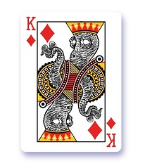 New king of diamonds (Don Moyer) Tags: king playingcard drawing moyer donmoyer brushpen tentacle