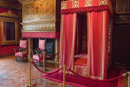 La chambre de César de Vendôme au Château de Chenonceau