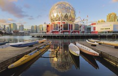 False Creek Vancouver (yuanxizhou) Tags: skyline westcoast travel street cityview britishcolumbia beautiful vancity vancouver landscape sky evening water boat light sunset architecturephotography architecture