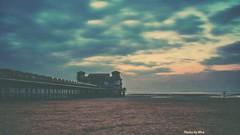 A pier... (miroslav.tokarsky) Tags: pentaxart pentax vintage bestshotoftheday magicmoment sunset pier sea water landscape nature clouds drama dramaticskies filter