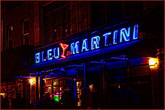 Bleu Martini (raymondclarkeimages) Tags: canon 6d usa raymondclarkeimages 8one8studios rci philly philadelphia 2470mm28 redborder night restaurant bar neon outdoor bleumartini flickr google yahoo
