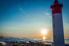 Umhlanga Lighthouse (philipsmit_photos) Tags: ocean lighthouse beach water sunrise landscape durban umhlanga