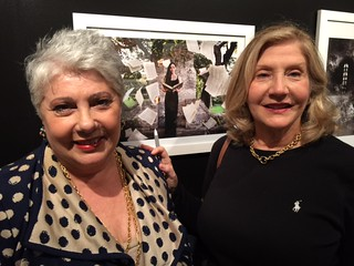Carmen Bettencourt Lewis with Maria Teresa Torano at the Coral Gables Museum Gallery night opening