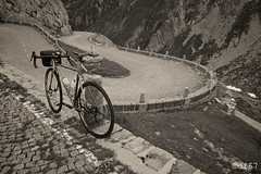 Hairpin Bends (df_67) Tags: road blackandwhite bw bike bicycle blackwhite fuji cycle fujifilm surly fujinon hairpin roadbike pave monocrome sangottardo bends straggler hairpinbends surlybikes fujifilmxpro1 fujinon18mmf2 fujifilmxseries surlystraggler