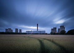 Drax Power Station (Draws_With_Light) Tags: camera canoneos5dmarkiii drax ef1635mmf4isusm fields filters landscape lee09ndhardgrad leelittlestopper northyorkshire places powerstation scene season structures summer wheatfields longexposure sunset vegetation davidhopley wexmondays2015