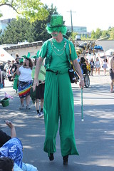 Tall Green (Chicago John) Tags: seattle fair fremont parade solstice 2015 fremontfair