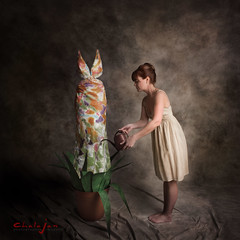 Planting Promise (ChalaJan) Tags: portrait plant hope outfit dress jan flight fancy promise planting guise fruitful chala
