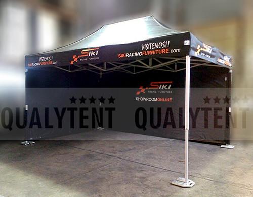 Carpas plegables, carpa de 3x4.5m personalizada para Siki Racing Furniture, carpas rotuladas