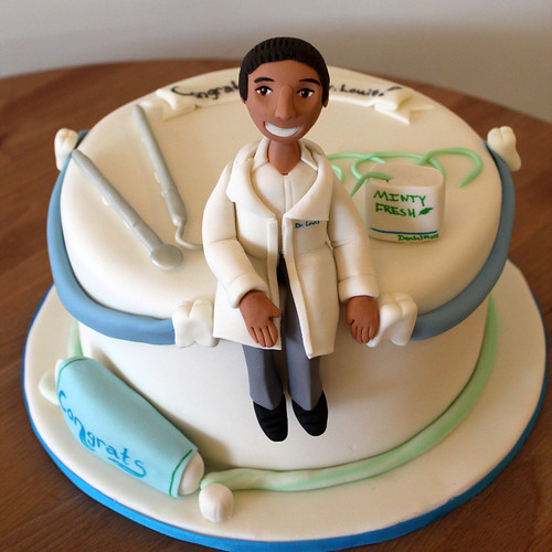 Dentist and Tools Cake