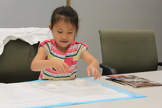 Willowwind Elementary student at recent STEM event