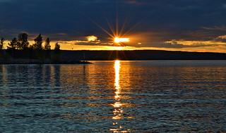 When The Sun Says Good Night. Sunset. Summer. Finland. Flickering