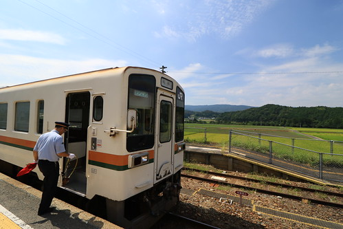 名松線 家城駅にて、タブレット交換?