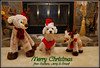 Merry Christmas To All My Flickr Friends (Jerry Jaynes) Tags: brandichristmas christmas2016 christmas brandi nc northcarolina dog pet puppy reindeer fireplace stuffedanimals sweater santahat nikkor1685vr