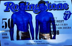 www.humanstatuebodyart.com.au (humanstatuebodyart) Tags: roche products manly pavilion blue bodypainting