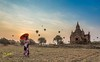 Bagan portrait Landscape (Kostas Trovas) Tags: bagan portrait landscape asia travelphotography temples myanmar minimalist sky hdr whataday buddhism silhouette beautiful travel tourist woman umbrella outdoors morning loveistravel nature balloons pagodas