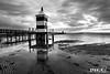 ZF2016_17948 (aa_zf717) Tags: lignanosabbiadoro nuvole riflesso reflection faro rosso lighthouse black white biancoenero bw pontile leefilters lee paesaggio landscape seascape canonef163528lii
