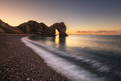 Stunning Sunrise over Durdle Door, Dorset (MelvinNicholsonPhotography) Tags: durdledoor dorset jurassiccoast water sunrise beach pebbles incomingtide sun clouds melvinnicholsonphotography gitzo manfrotto mindshiftgear canon5ds canonuk
